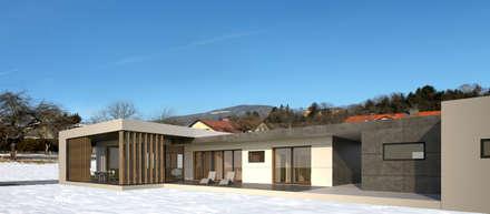 HAUS STB:  Bungalow von AL ARCHITEKT
