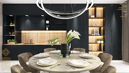 Semi Detached House—horizon hill, Johor Bahru,Malaysia: modern Dining room by Enrich Artlife & Interior Design Sdn Bhd