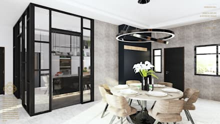 Semi Detached House—horizon hill, Johor Bahru,Malaysia:  Built-in kitchens by Enrich Artlife & Interior Design Sdn Bhd