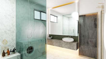 Semi Detached House—horizon hill, Johor Bahru,Malaysia: modern Bathroom by Enrich Artlife & Interior Design Sdn Bhd