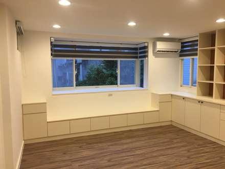 不釘天花板也能有好質感 連雲街設計案:  書房/辦公室 by 捷士空間設計