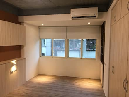 不釘天花板也能有好質感 連雲街設計案:  臥室 by 捷士空間設計