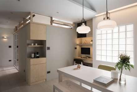 غرفة السفرة تنفيذ 禾光室內裝修設計 ─ Her Guang Design