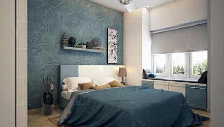asian Bedroom by Monnaie Interiors Pvt Ltd
