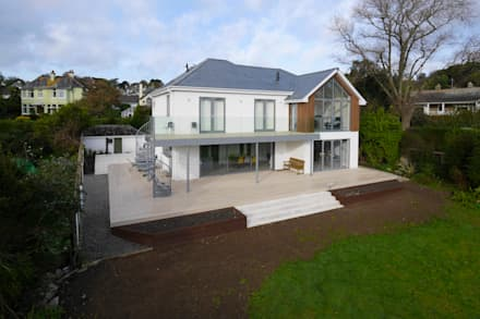 New Build, St Mawes, Cornwall:  Detached home by Marraum