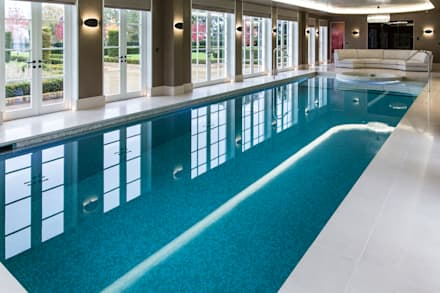 Luxury Pool:  Infinity pool by London Swimming Pool Company