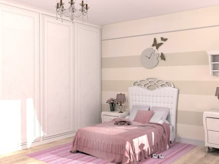 Dormitorios juveniles  de estilo  por Студия интерьера 'Золотая Середина