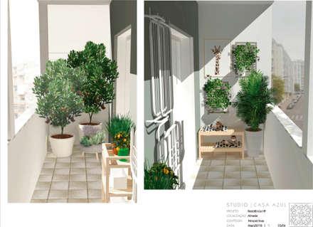 Terraço Multiusos: Terraços  por Studio Casa Azul