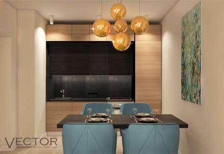 Двухкомнатная квартира в ЖК ЮИТ Дом: Гостиная в . Автор – Студия Дизайна и Архитектуры VECTOR