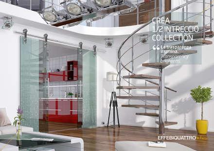 Puertas de vidrio de estilo  por Effebiquattro S.p.A.