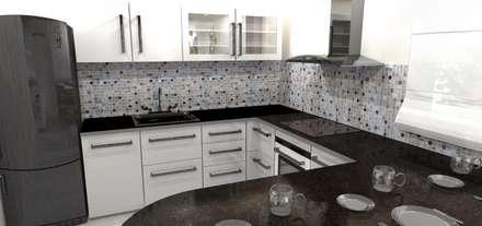 Diseño y decoracion duplex : Cocinas de estilo industrial por Estudio de Arquitectura MEM