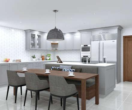 SANDTON KITCHEN:  Built-in kitchens by Linken Designs