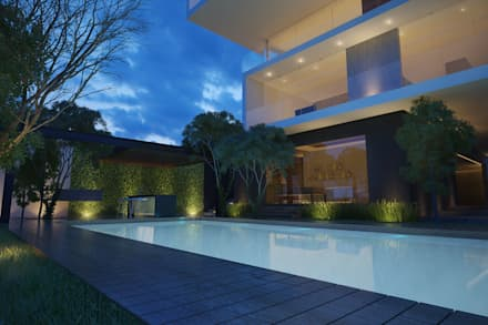 minimalistic Pool by 21arquitectos