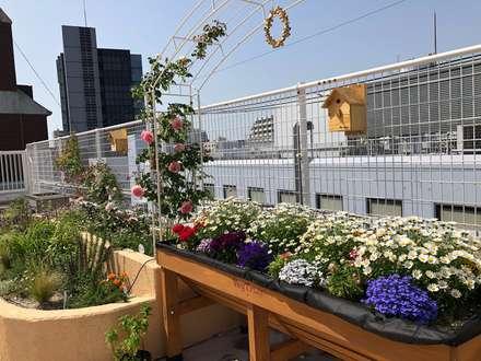 施工後の様子: 株式会社ムサ・ジャパン ヴェルデが手掛けた庭です。