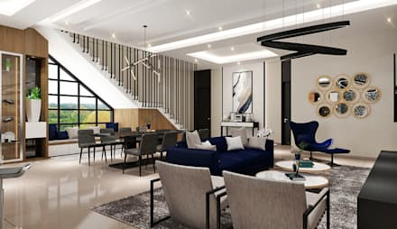 CL house Siantar:  Ruang Makan by Lighthouse Architect Indonesia
