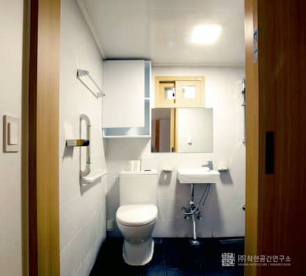 누하동 주택 리모델링: 주식회사 착한공간연구소의  화장실