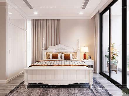 THIẾT KẾ NỘI THẤT CĂN HỘ CHUNG CƯ CAO CẤP - PHONG CÁCH TÂN CỔ ĐIỂN:  Phòng ngủ by ICON INTERIOR