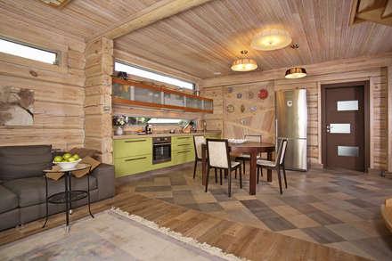 Cocinas de estilo rural por архитектурная мастерская МАРТ