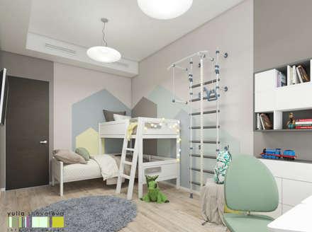 Тропический сад: Детские комнаты в . Автор – Мастерская интерьера Юлии Шевелевой