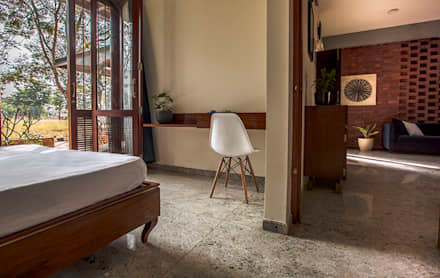 Bedroom: rustic Bedroom by Kamat & Rozario Architecture