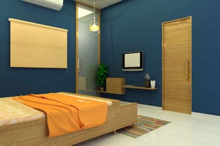 INTERIOR  7 BHK : asian Bedroom by PAHENJO