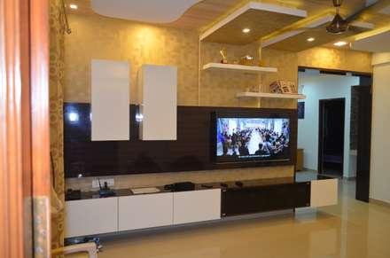 Stylish Apartment: modern Living room by Vdezin Interiors