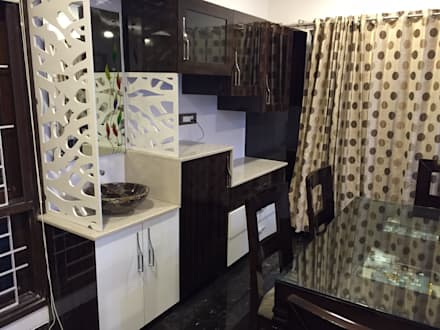 PLUSH & LAVISH VILLA: modern Dining room by Vdezin Interiors