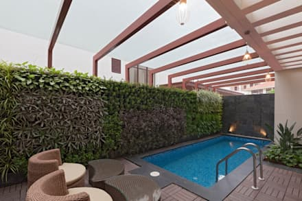 Piscinas naturales de estilo  de Synergy Architecture and Interiors
