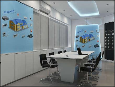 Ruang Rapat (Desain 3D):  Kantor & toko by Likha Interior