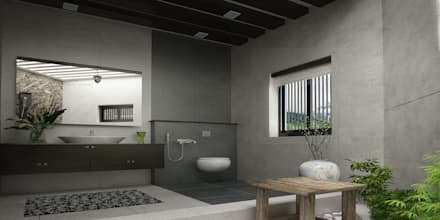 asian Bathroom by Monnaie Interiors Pvt Ltd