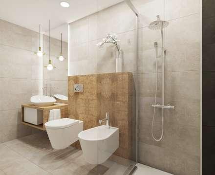 Remodelação de casa de banho: Casas de banho modernas por VRB arquitectura e Interiores
