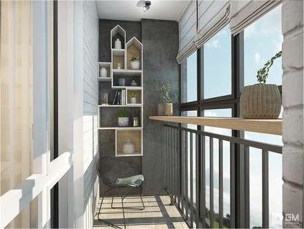 Балкон: Tерраса в . Автор – GM-interior