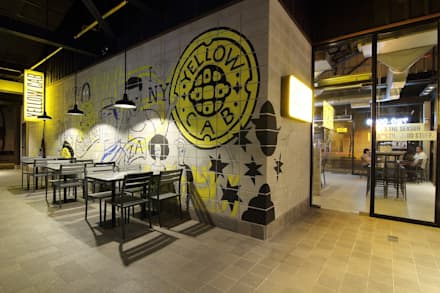 Yellow Cab Burgos Circle, Bonifacio Global City:  Commercial Spaces by Cham - Candelaria Inc.