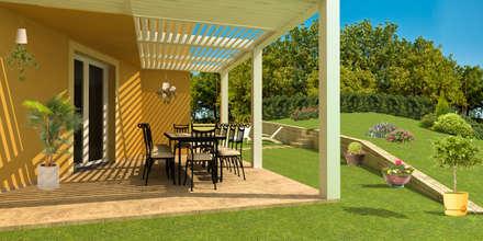 Virtual home staging - villa in campagna: Villa in stile  di AplusP  Architettura e Paesaggio