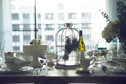 極簡法式絮語  :  餐廳 by 文儀室內裝修設計有限公司