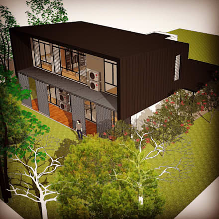 Proposed Exterior Design: modern Houses by Alto Builders Sdn Bhd