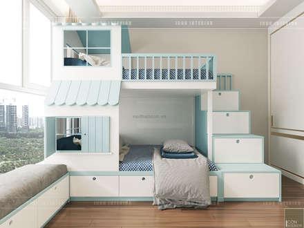 THIẾT KẾ CĂN HỘ VỚI NỘI THẤT PHONG CÁCH CHÂU ÂU - Sarica Condominium Sala:  Phòng trẻ em by ICON INTERIOR