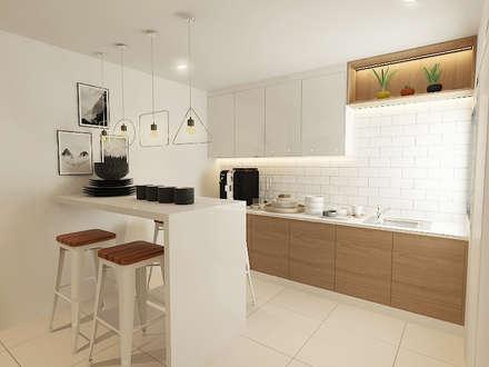 Kitchen : modern Kitchen by Verde Design Lab