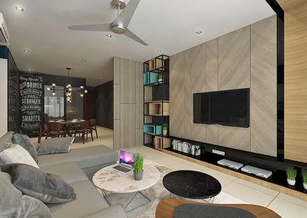 Living Area : scandinavian Living room by Verde Design Lab