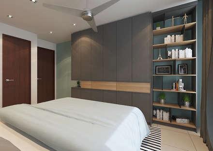 Master Bedroom: scandinavian Bedroom by Verde Design Lab