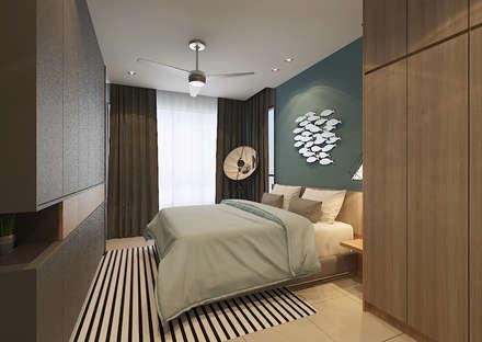 Master Bedroom : scandinavian Bedroom by Verde Design Lab