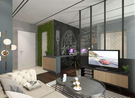 Living Area : rustic Living room by Verde Design Lab