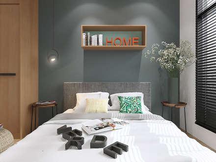 Master Bedroom : rustic Bedroom by Verde Design Lab