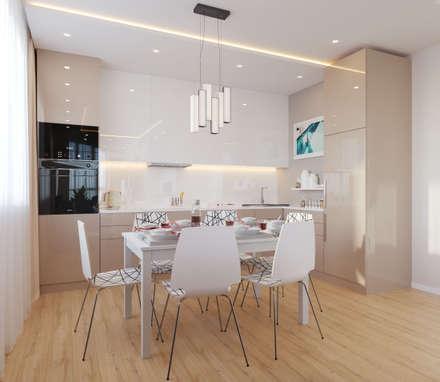 modern Kitchen by Гузалия Шамсутдинова | KUB STUDIO