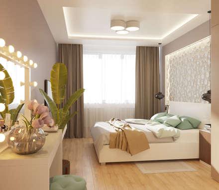 Спальня: Спальни в . Автор – Гузалия Шамсутдинова   KUB STUDIO