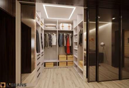 industrial Dressing room by Студия дизайна интерьера L'grans