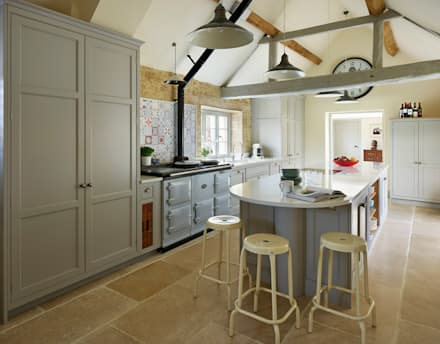 Restored Farmhouse:  Kitchen units by Teddy Edwards