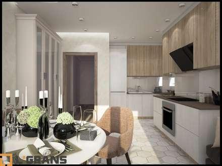 Дизайн интерьера 3к. квартира по ул. Пионерская, 1, ЖК Golden Keys, г. Хабаровск: Кухни в . Автор – Студия дизайна интерьера L'grans
