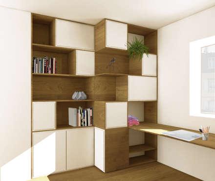 Bureau sur mesure: Bureau de style de style Moderne par Design & Visual Concept
