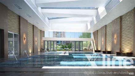One 88 by Xline 3D: moderner Fitnessraum von Xline 3D Digital Interactive Architecture